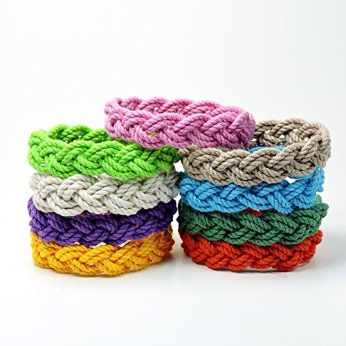 Narrow Sailor Knot Rope Bracelet Tropical Colors ()