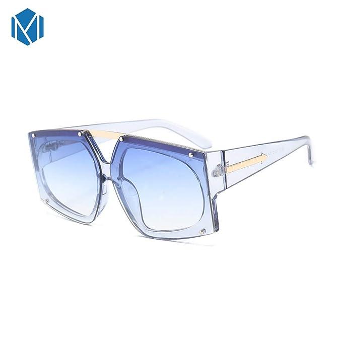 Amazon.com: Mism Fashion - Gafas de sol cuadradas con lentes ...