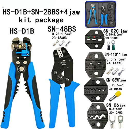 Sn-48Bs Sn-2549Crimping Plier Kit Combination 8 Jaw for Tube/Plug Spring/Insulation/Non-Insulation Most Type Terminals Tools D1B SN-48BS 4jaw kit