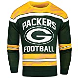 FOCO Green Bay Packers Ugly Glow In The Dark Sweater - Mens Large