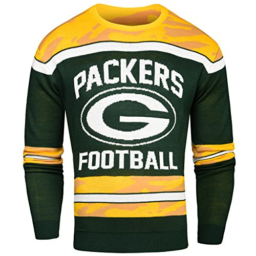FOCO Green Bay Packers Ugly Glow In The Dark Sweater - Mens Extra Large by FOCO