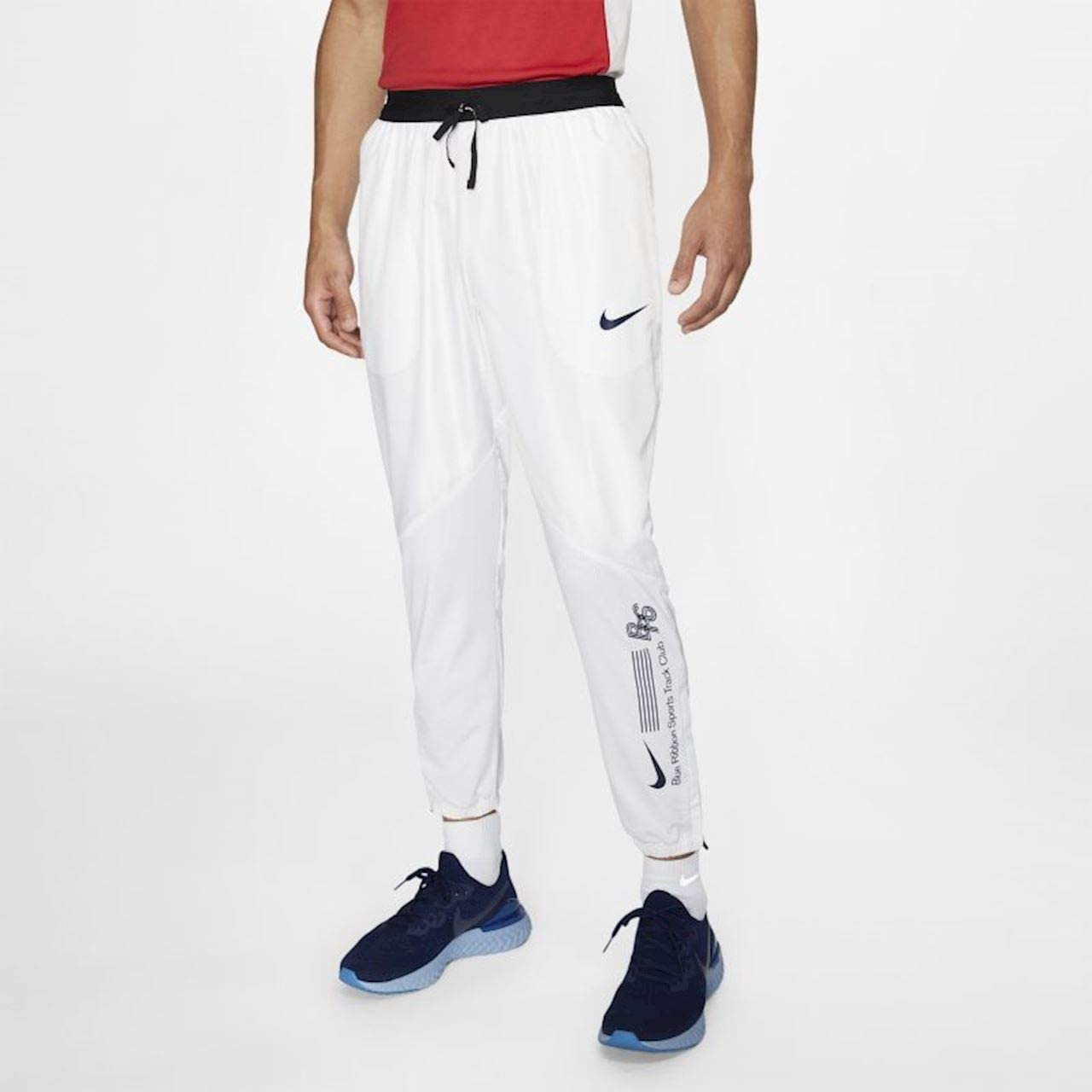Maryanne Jones Factibilidad Abreviar  Nike U NK Track Pant BRS Pantalon Mixte Adulte, Blanc/Bleu  (White/White/White/Blue Void), M: Amazon.fr: Sports et Loisirs