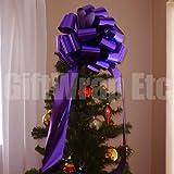 Big Metallic Purple Gift Bow - 14'' Wide