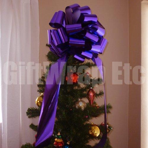 Big Metallic Purple Gift Bow - 14'' Wide by GiftWrap Etc.