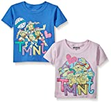girl toddler ninja turtle shirt - Nickelodeon Little Girls' Toddler 2 Piece Teenage Mutant Ninja Turtle T-Shirt, Assorted Colors, 2T