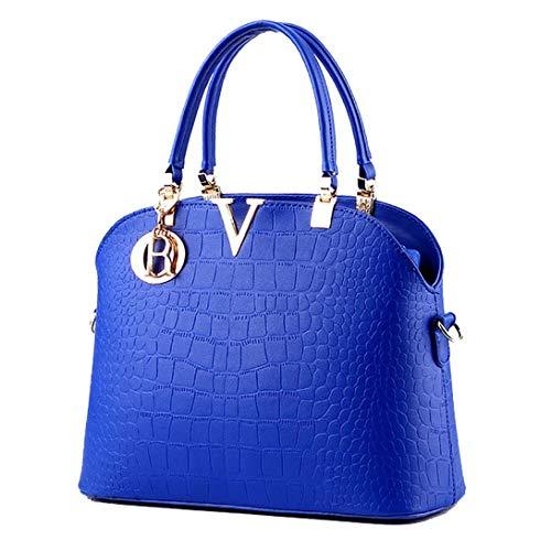 Satchel Sac Main 2 À Avec Bleu Branché Femme Boutique Épaule Maquillage Vdual wIR0Bq