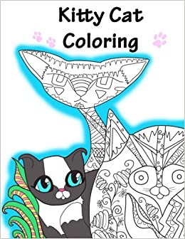 Amazon Kitty Cat Coloring Book Stress Relief Adult 9781539169994 Frumpy Bunny Books