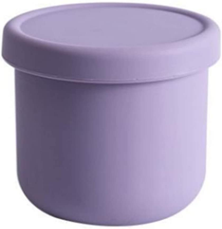 Small Silicone Bento Boxes Microwave Freezer Safe Mini Silicone Bowl with Lids for Dessert,Fruit,Snack,Baby Toddler Food Feeding Bowls Portable Baby Food Storage Container(purple)