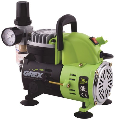 Grex AC1810-A 1/8 HP 115V Portable Piston Air Compressor by Grex Airbrush