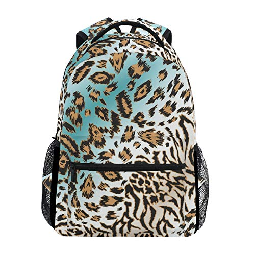 Tigers College Womens Wallet - Backpack Travel Tiger Stripe School Bookbags Shoulder Laptop Daypack College Bag for Womens Mens Boys Girls