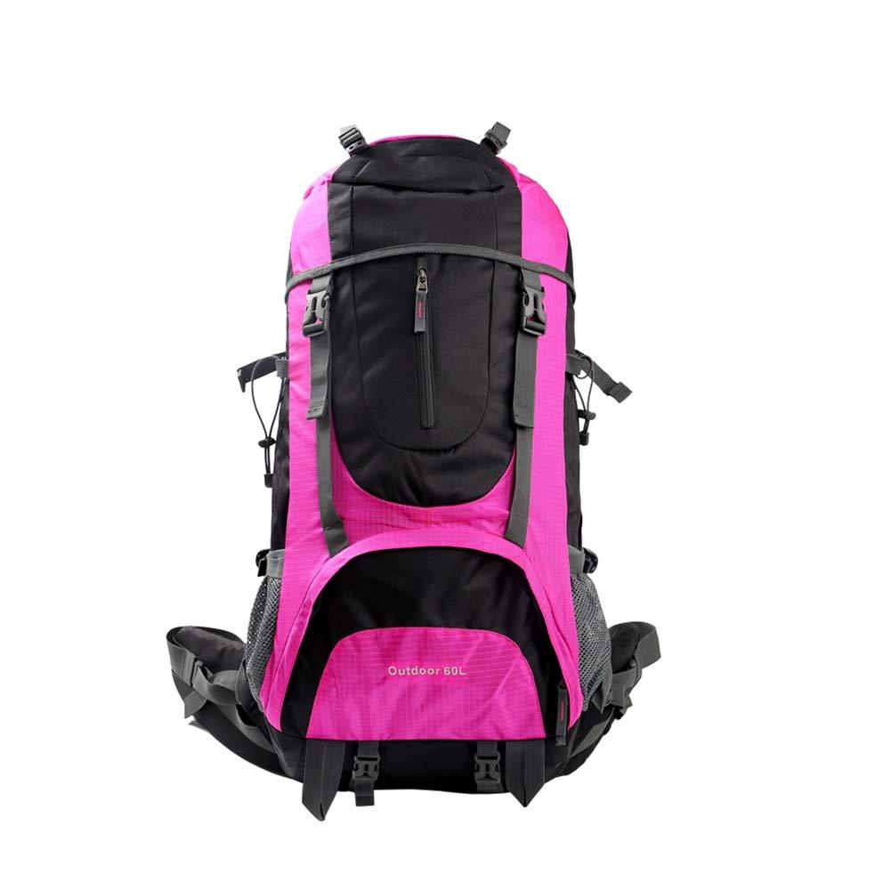 XF 登山バッグ屋外防水大容量バックパック多機能雨トラベルバッグレインカバーキャリングシステムと快適なパッド付きバックパック60 + 10L //   B07KD21K4B
