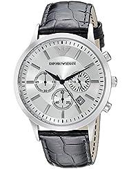 Emporio Armani Mens AR2432 Dress Black Leather Watch