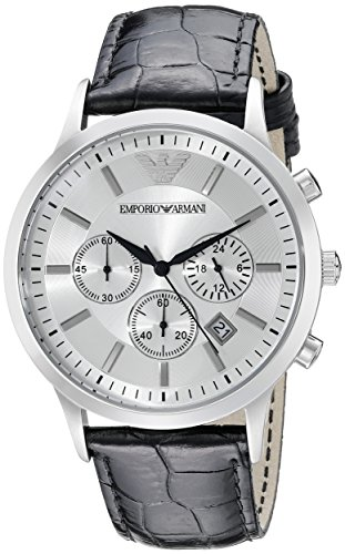 Emporio Armani Men's AR2432 Dress Black Leather Watch ()
