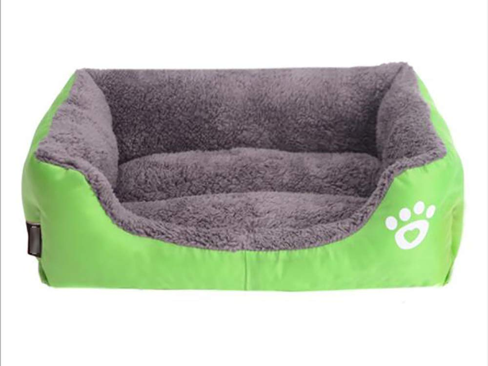 Green LGwanna Warm candy color pet nest, sofa bed(Oxford cloth) Soft Pad for Pets Sleeping (color   Red wine, Size   XXL)