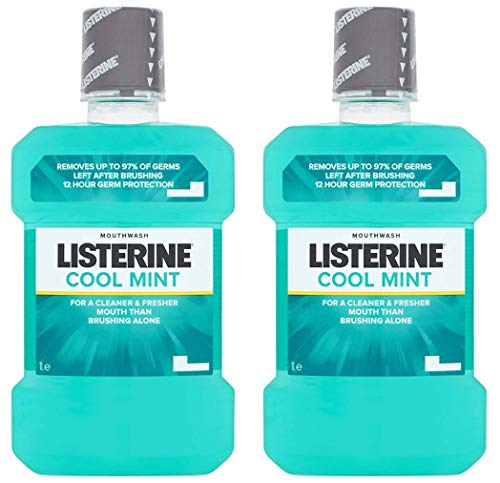 Care Cool Mint - Listerine Antiseptic Mouthwash, Cool Mint - 33.8 oz - 2 pk