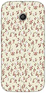Snoogg English Rose Designer Protective Back Case Cover For Moto-E 2Nd Genration