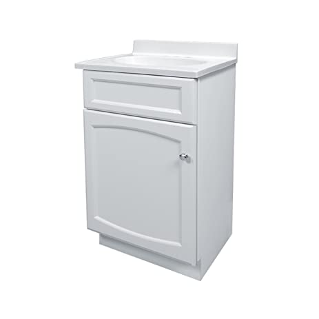foremost hew1816 heartland 18inch white vanity with top