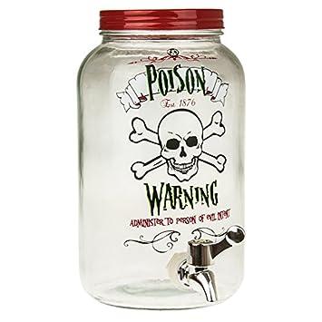 Halloween 3L Glas Getränke Spender Poison Warning: Amazon.de: Küche ...