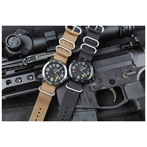 5.11 Men's Field Water Resistant Military Tactical Watch, Style 50513, Kangaroo