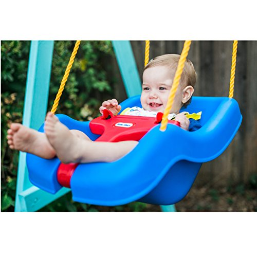 51Mn8MofH0L - Little Tikes 2 -in- 1 Snug 'n Secure Grow With Me Swing - Blue