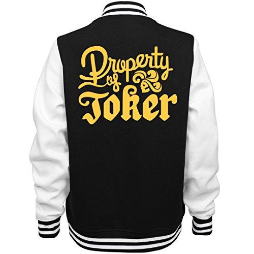 Customized Girl Joker's Golden Property: Ladies Fleece Letterman Varsity Jacket for $<!--$53.97-->