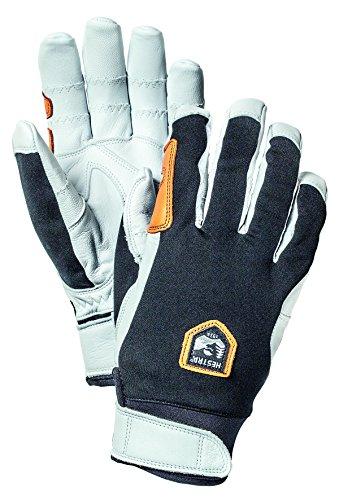 ive Leather Outdoor Gloves,Black/Off White,10 (Hestra Windstopper)