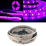 0.5/1M 5050 UV Ultraviolet Purple Waterproof Strip Lamp Black Light 12V