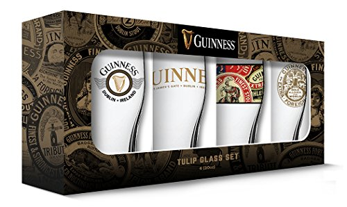 - Guinness Boxed Tulip Glasses (Set of 4), Clear