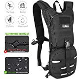 RexSoul Hydration Backpack Tactical Pack 1000 D with 2.5 L Water Bladder Leak-Proof BPA Free with Reflective Strips Design for Outdoor Hiking | Running | Biking | Climbing | Walking | Cycling |Skiing