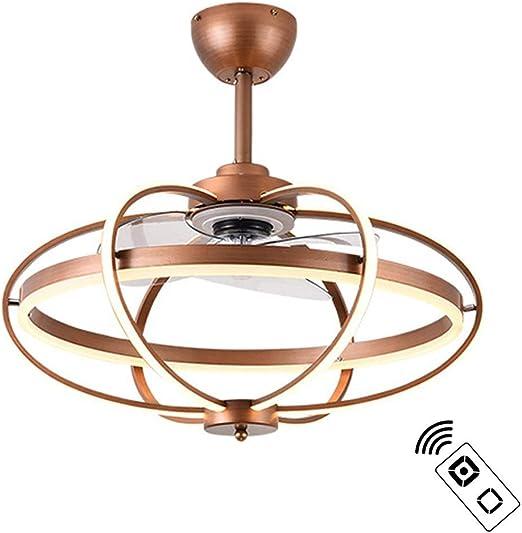 LAZ Lámpara de Techo LED Moderna con Control Remoto Ventilador de ...