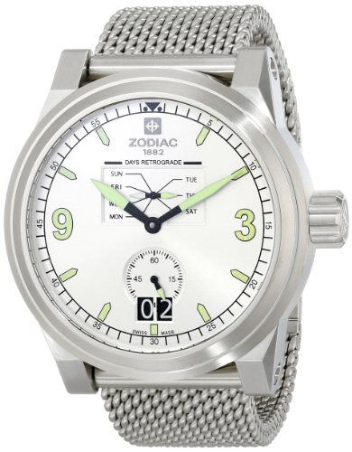 Zodiac-ZMX-Mens-ZO8565-ZO8565-Aviator-Stainless-Steel-Watch