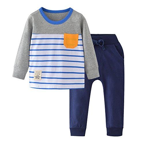 HUAER& Boys Cute Cartoon Long Sleeve Clothing Sets