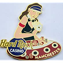 2002 Girl Croupier Dealer Pin Hard Rock Casino Manchester