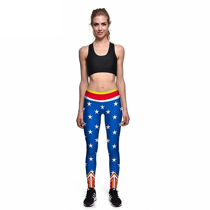 a6cd2c861 Rochit Women S Sexy Captain America Flag Against 3D Print Pants Women High  Waist Pants Trousers Fitness Leggings  Amazon.ca  Clothing   Accessories