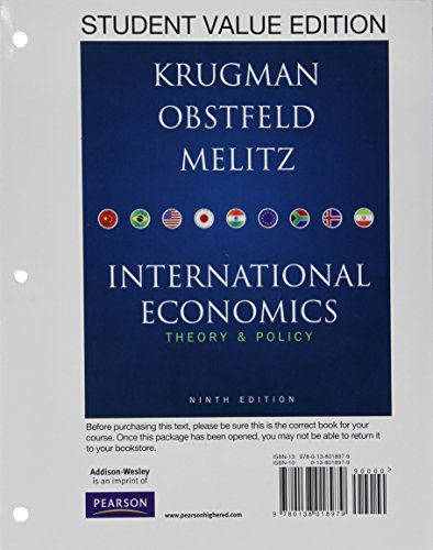 Student Value Edition for International Economics plus NEW MyEconLab with Pearson eText -- Access Card Package (1-semest