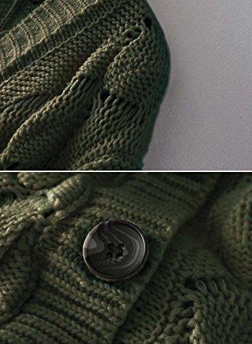 Futurino - Cárdigan - para mujer verde oliva