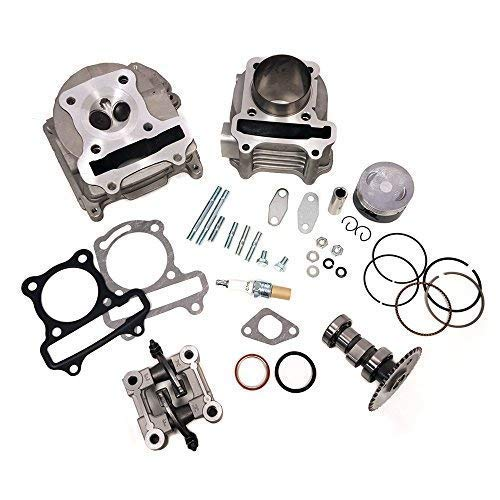 MMG Complete Upgrade Rebuild GY6 Cylinder Kit 100cc - 50mm piston, 70mm EGR Valves for 4 stroke 139QMB 139QMA (Best High Performance 4 Cylinder Engines)