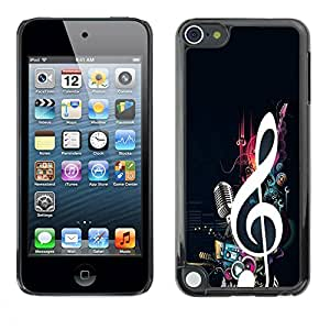 Paccase / SLIM PC / Aliminium Casa Carcasa Funda Case Cover para - Music Note Microphone Beat Bass Love - Apple iPod Touch 5