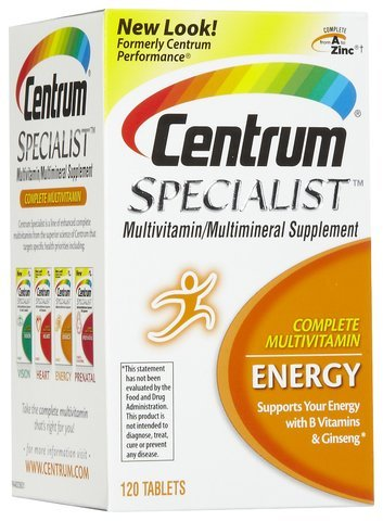 Centrum Specialist Energy, 120 Count (Pack of 3) , Centrum-4hsj
