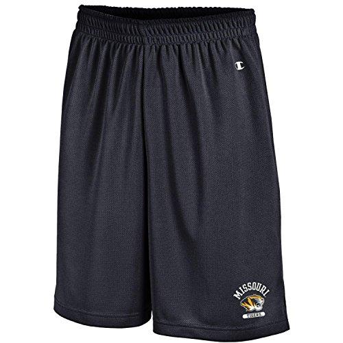 Classic Black College Short - Champion NCAA Missouri Tigers Men's Men's Classic Team Mesh Short, Large, Black