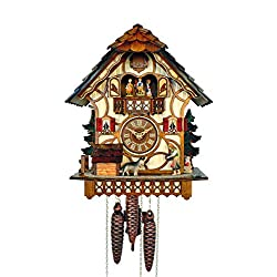 Anton Schneider Cuckoo Clock Black Forest house with moving dog
