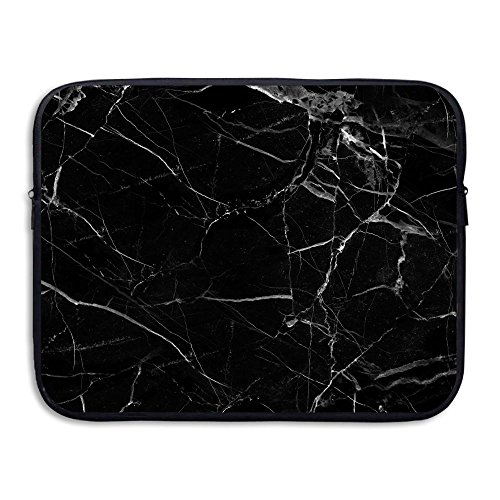 Laptop Sleeve Case Protective Bag Black Marble Printed Ultra