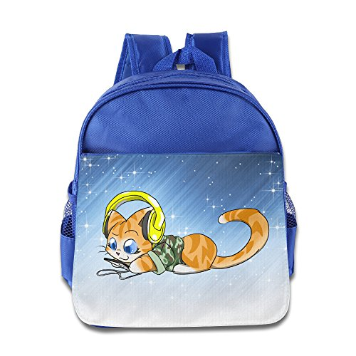 Price comparison product image Boomy Funny Hello Cat Child Backpack For 3-6 Years Old Child RoyalBlue Size One Size
