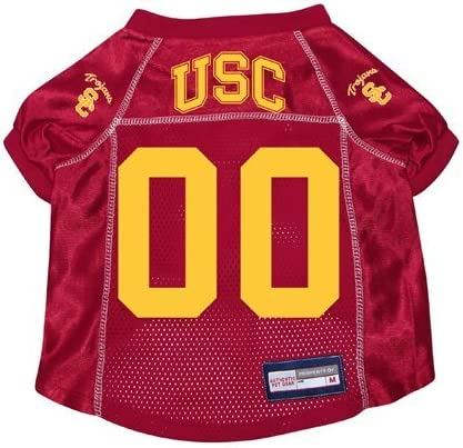 NEW USC TROJANS DOG PET PREMIUM JERSEY w//NAME TAG ALL SIZES LICENSED