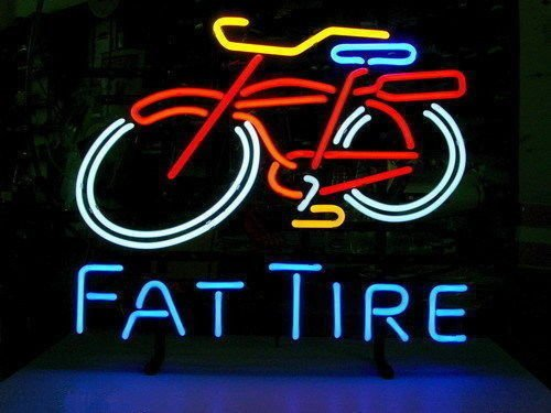 Fat Tire Amber Ale Schwinn Style Bicycle LARGER Neon Sign20