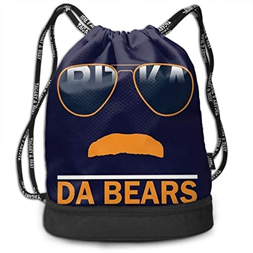Traveling Swim Gym Beam Backpack Da Bears Chicago Windy City Mustache Glasses Beam Backpack Basketball, Volleyball, Baseball Daypack For Boys Teens Youth Birthday Party