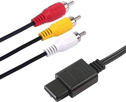 Cable AV N64, 6 amLifestyle, 1,8 m, Cable de sincronización RCA para televisor AV Compatible con Nintendo N64, Gamecube y SNES: Amazon.es: Electrónica