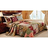 Greenland Home Fashions Antique Chic Deluxe 5-piece Bedspread Set 4 Piece Twin