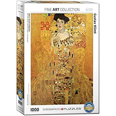 EuroGraphics Portrait of Adele Bloch Bauer by Gustav Klimt 1000 Piece Puzzle (6000-9947): Toys & Games