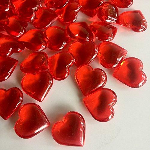 red acrylic crystals - 9